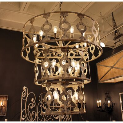 Bosphorus 24-Light Drum Chandelier Finish: Rustic Brown