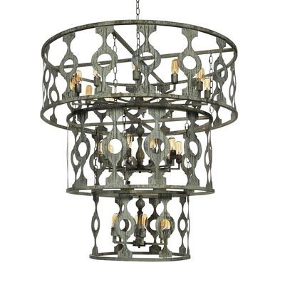 Bosphorus 24-Light Drum Chandelier Finish: Deep Ocean