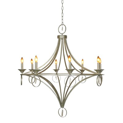 Paris 6-Light Candle-Style Chandelier Finish: Distressed Gray