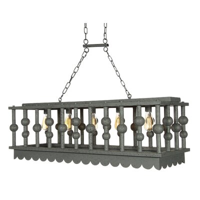 Palm Beach 7-Light Kitchen Island Pendant Finish: Antique Black