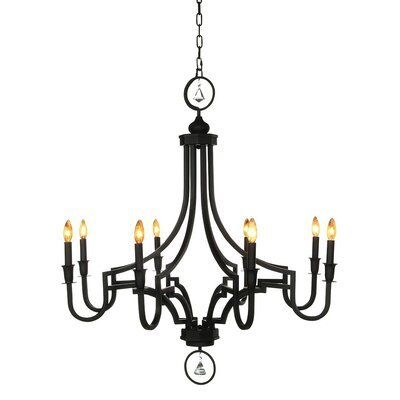 Casper 6-Light Candle-Style Chandelier Finish: Antique Black