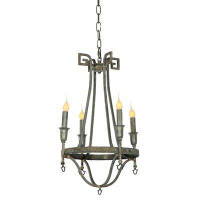 Bailey 4-Light Candle-Style Chandelier Finish: Antique Black
