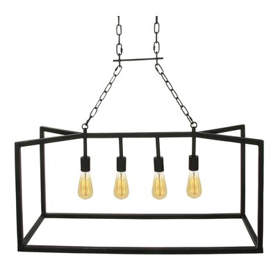 Nevada 4-Light Foyer Pendant Finish: Antique Black