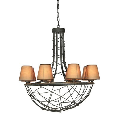 Nest 6-Light Candle-Style Chandelier Finish: Distressed Gray