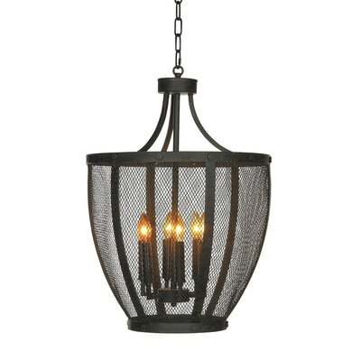Jackson 6-Light Geometric Pendant Finish: Rustic Brown