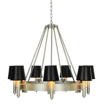 Hampton 7-Light Candle-Style Chandelier Finish: Distressed Gray