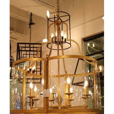 Milan 6-Light Lantern Pendant Finish: Gilded Gold