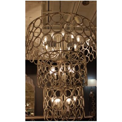 Topkapi 24-Light Drum Chandelier Finish: Distressed Gray