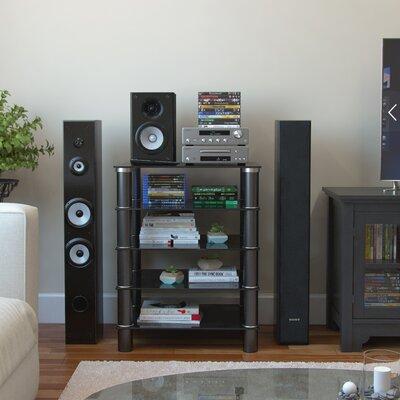 Glass Audio Rack Finish: Black