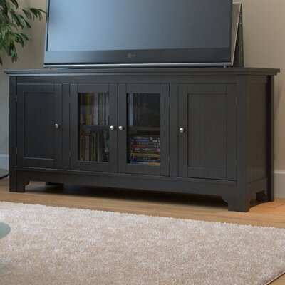 Johnston 52 TV Stand Color: Matte Black