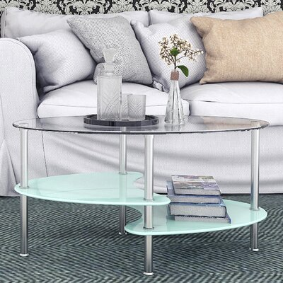 Hefner Two Tier Glass Coffee Table