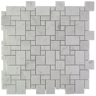 French Marble Mosaic Tile in Carrara