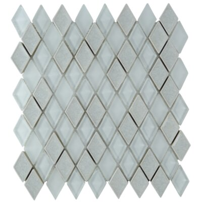 Rendevous Diamond Glass Mosaic Tile in Champagne