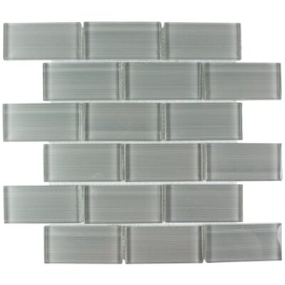 Myriad Glass Subway Tile in Stone