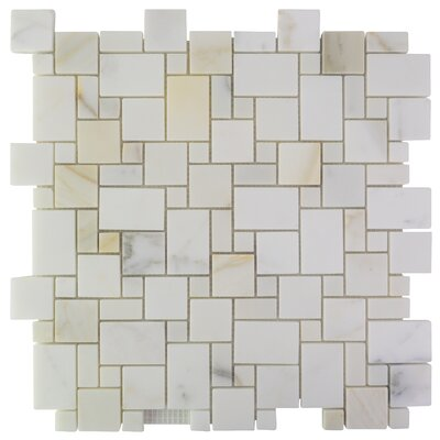 French Marble Mosaic Tile in Calacatta