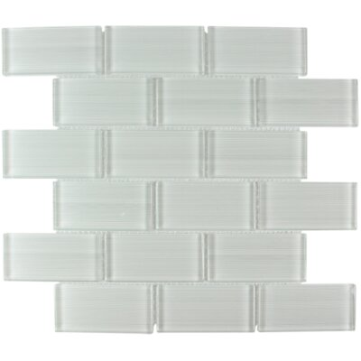 Myriad Glass Subway Tile in Linen