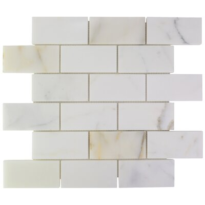 Calacatta Marble Subway Tile in Polished 10130