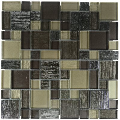 Windmill Glass Blend Mosaic Tile in Fawn