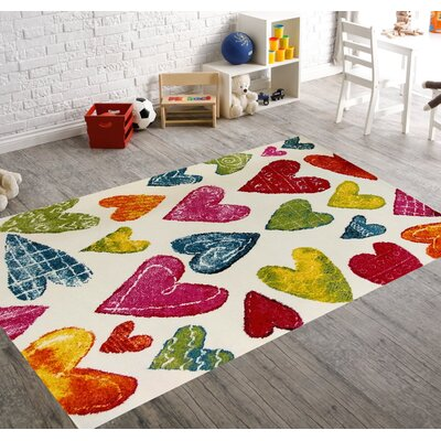 Angel Bedroom Decor Area Rug Rug Size: 53 x 73