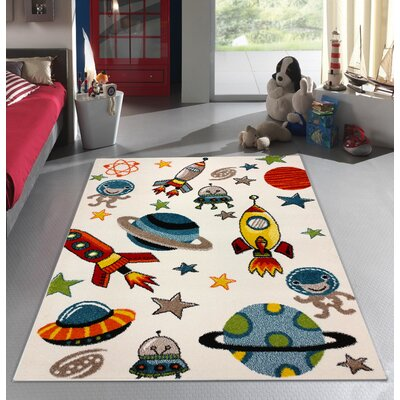 Annmarie Bedroom Decor Area Rug Rug Size: 53 x 73