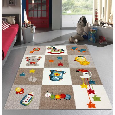Angeline Bedroom Decor Area Rug Rug Size: 53 x 73