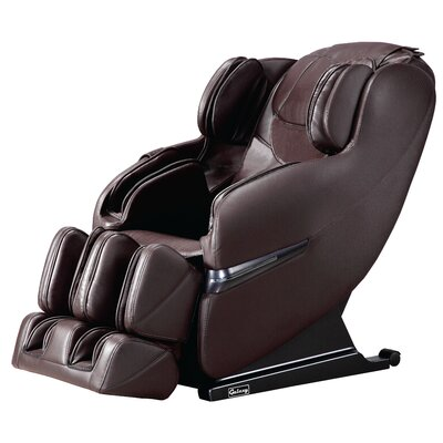 Faux Leather Massage Chair Upholstery: Brown