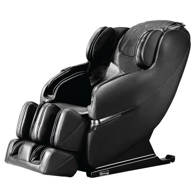 Faux Leather Massage Chair Upholstery: Black