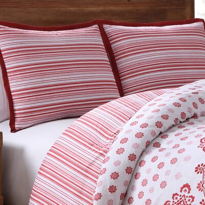 Clarice Reversible Comforter Set Size: Queen