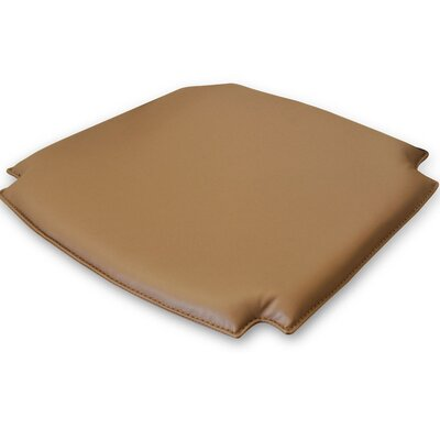 TREND360 Wishbone Style Dining Chair Cushion Fabric: Medium Brown