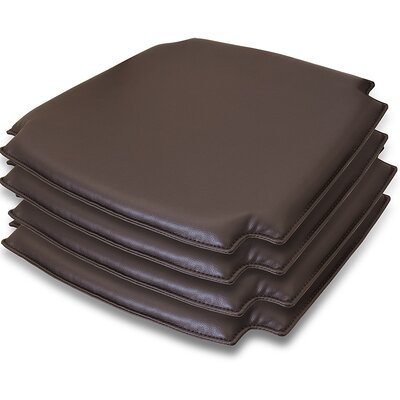 Wishbone Dining Chair Cushion Fabric: Dark Chocolate