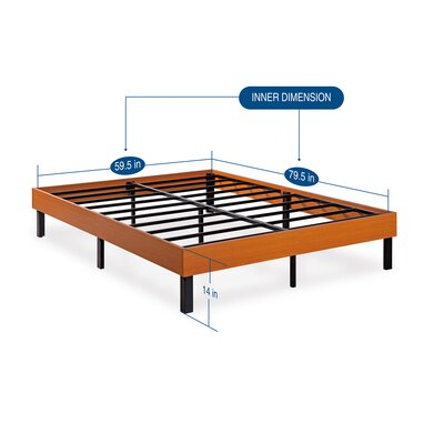 Wood Platform Bed Frame Size: Queen, Finish: Vintage Cherry