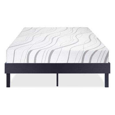 Wood Platform Bed Frame Size: Full, Color: Modern Black