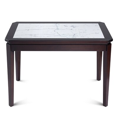 Arie Natural Marble Top Wood Dining Table