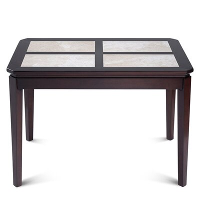 Ahmad Natural Marble Top Wood Dining Table