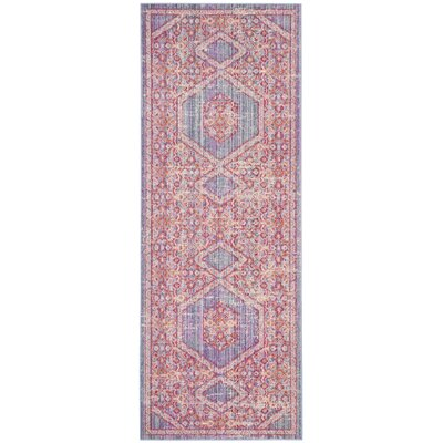 Bangou Lavender/Fuchsia Area Rug Rug Size: Rectangle 3 x 8