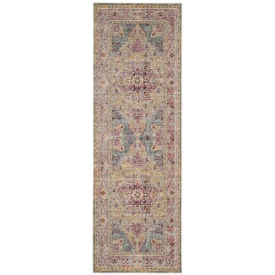 Norwood Grape/Blue Area Rug Rug Size: Runner 26 x 79