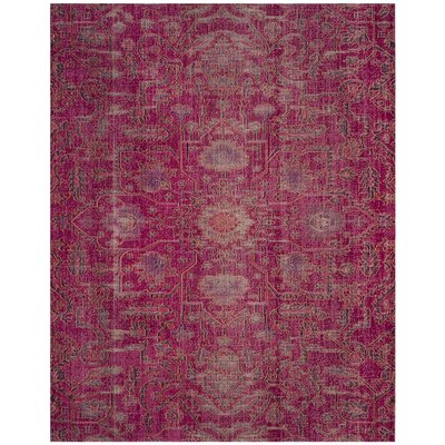 Manya Rectangle Pink Area Rug Rug Size: Rectangle 8 x 10