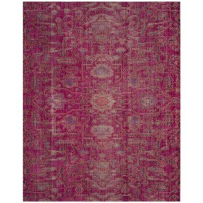 Manya Rectangle Pink Area Rug Rug Size: 8 x 10