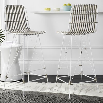 Marleigh 29.5 Bar Stool Finish: White Wash