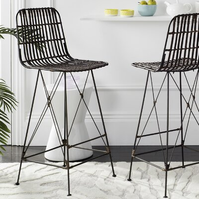Marleigh 29.5 Bar Stool Finish: Croco Brown