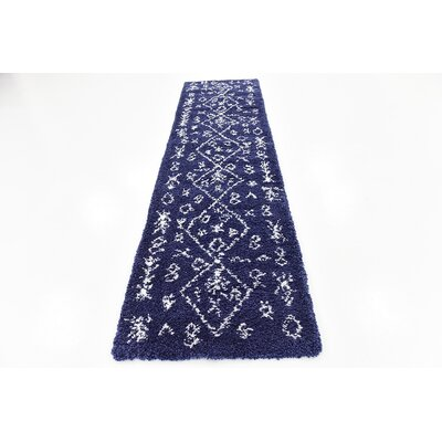 France Navy Blue Area Rug Rug Size: Runner 2 7 x 10