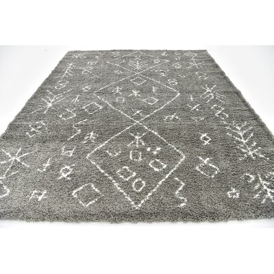 France Machine woven Gray Area Rug Rug Size: 8 x 10