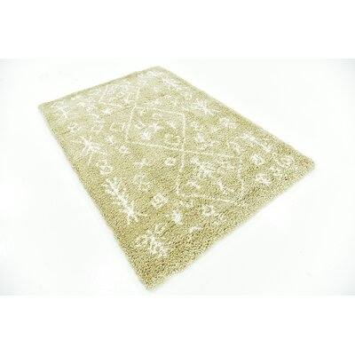 France Machine woven Taupe Area Rug Rug Size: 4 x 6