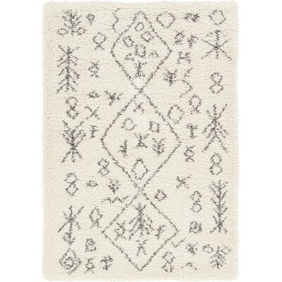 France Pure Ivory Area Rug Rug Size: Rectangle 4 x 6