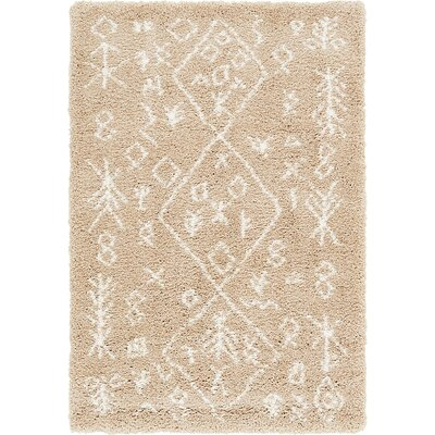 France Machine woven Taupe Area Rug Rug Size: Rectangle 9 x 12