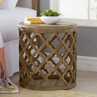 Darcey End Table Finish: Brown