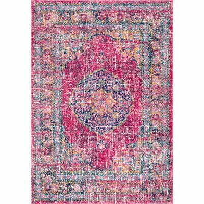 Parker Fuchsia Area Rug Rug Size: Rectangle 5 x 75