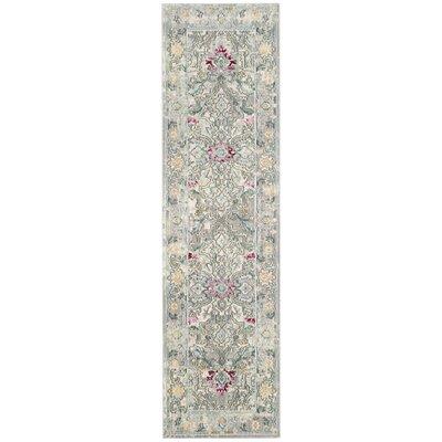 Lulu Tibetan Gray/Multi Area Rug Rug Size: Runner 23 x 8