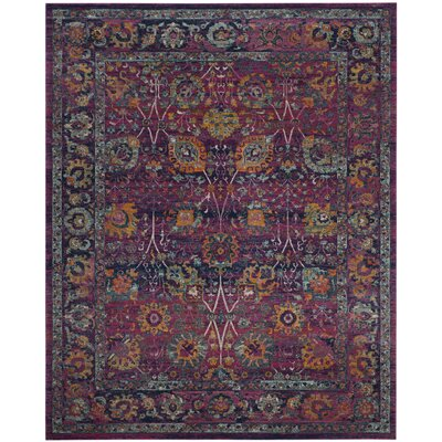 Melody Fuchsia Area Rug Rug Size: Rectangle 9' x 12'