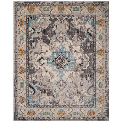 Newburyport Grey & Silver Area Rug Rug Size: Rectangle 8 x 10